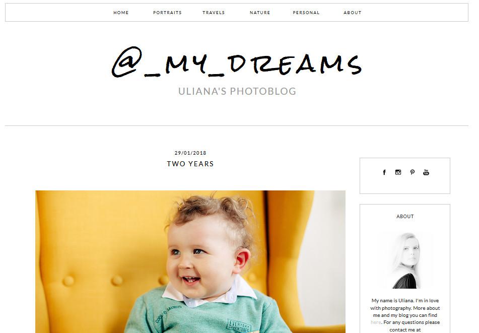 """Блог """"@_my_dreams"""" Ульяны Кучеренко"""